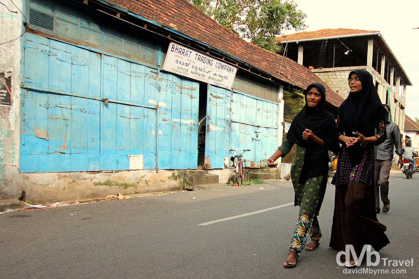 Bazaar Road, Forth Cochin, Kerala, India. September 18th 2012.