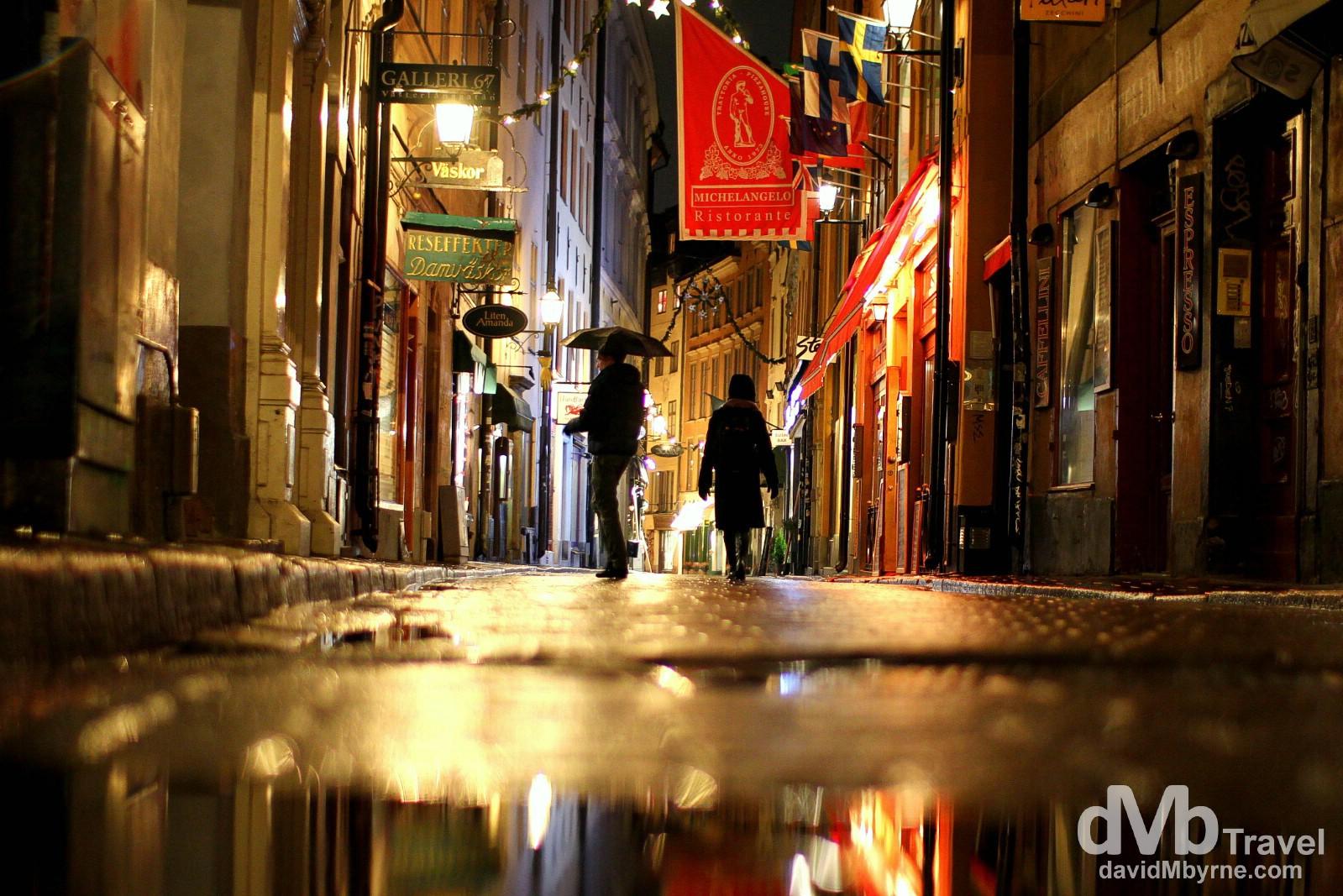 Vesterlanggatan, Gamla Stan, Stockholm, Sweden. November 26th 2012.