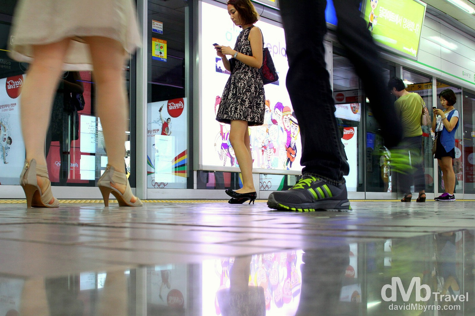Gangnam Metro Station, Seoul, South Korea. July 8th 2012.