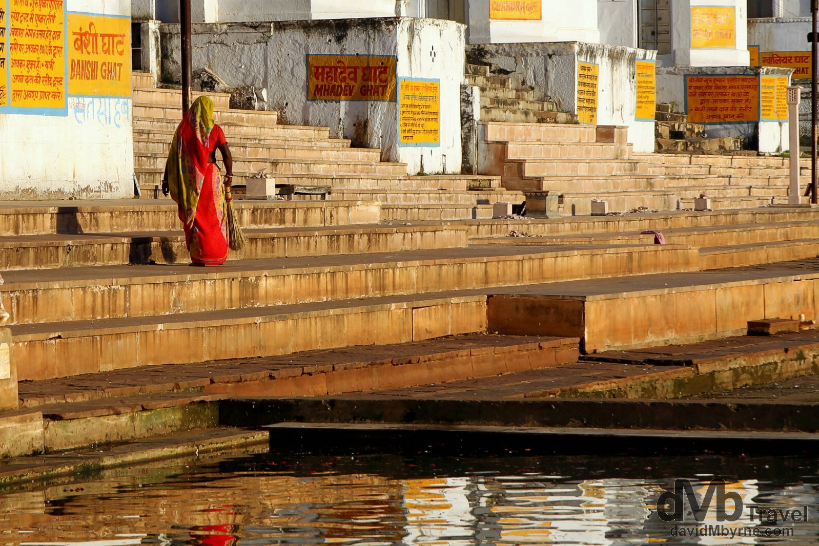 Down on the ghats in Pushkar, Rajasthan, India. October 2nd 2012.