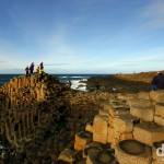 On the 60-million-year-old basalt columns of the UNESCO World Heritage listed Giant's Causeway in Co. Antrim, Northern Ireland. March 15, 2010.