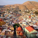 Approaching sunset in the city of Guanajuato, Mexico, as seen from Panoromica overlooking the city. April 23rd 2013.