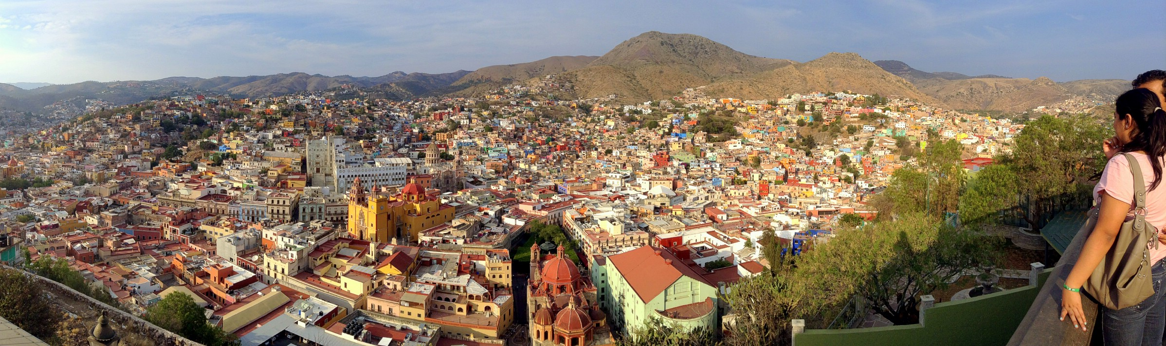 An iPod panorama overlooking Guanajuato as seen from Panoromica, Guanajuato, Mexico. April 23rd 2013 (iPod) *As with all images, click on the image to expand to full screen.*