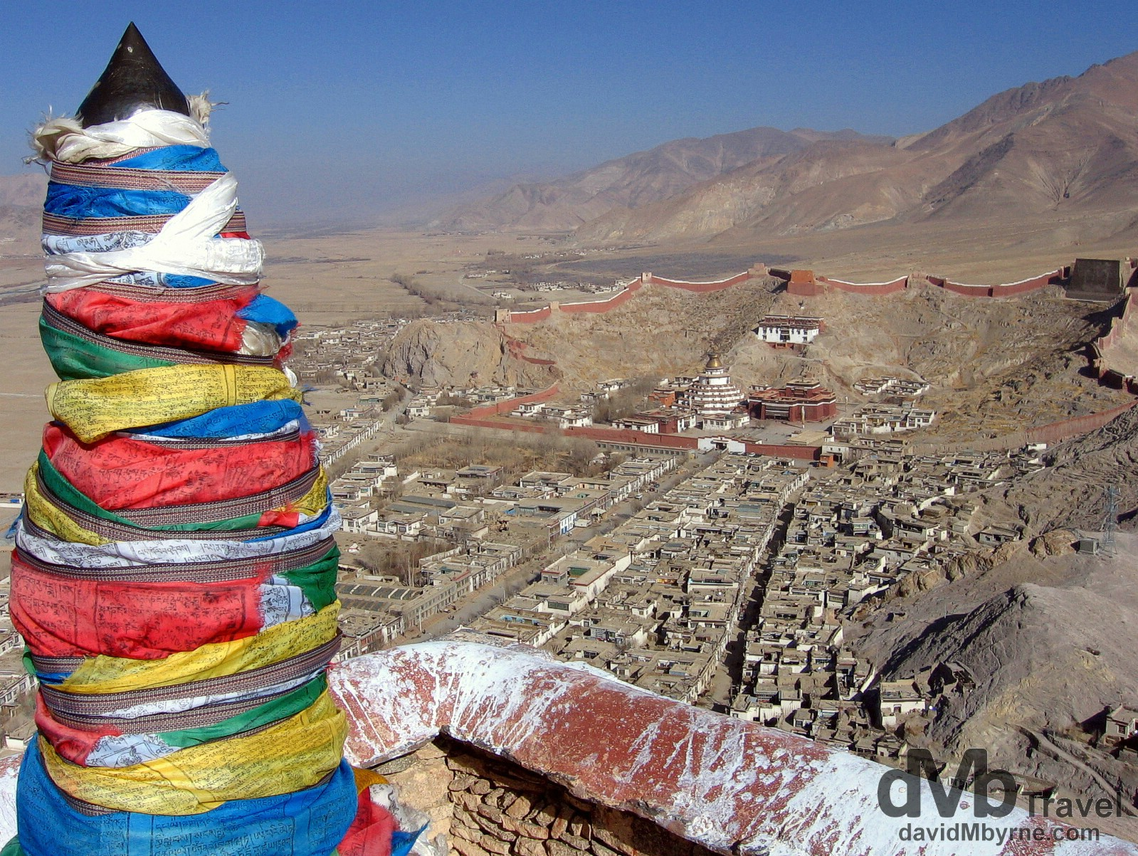 The view from atop Gyantse Old Fort, Gyantse, Tibet