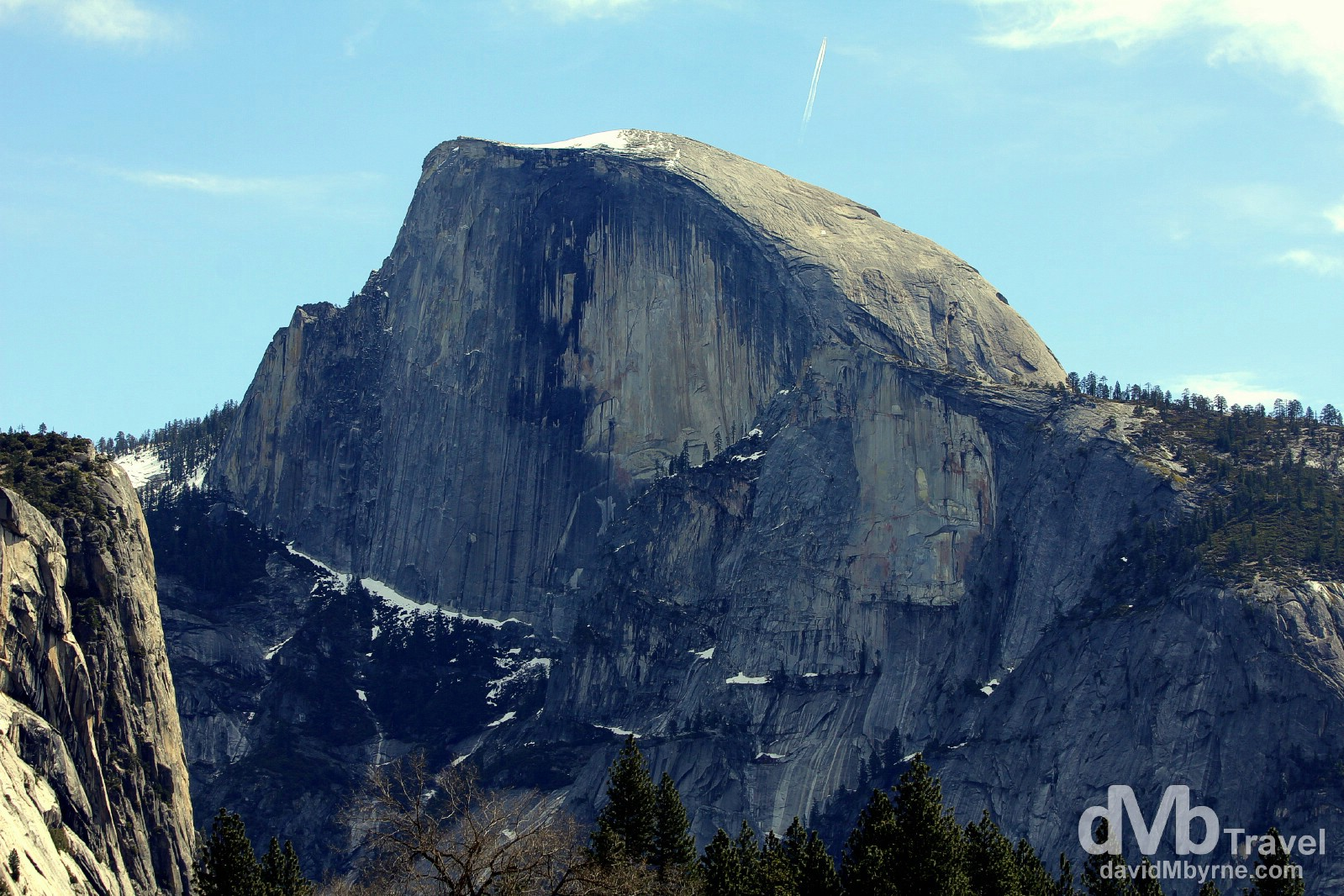 Half Dome, Yosemite National Park, California, USA. April 2nd 2013.