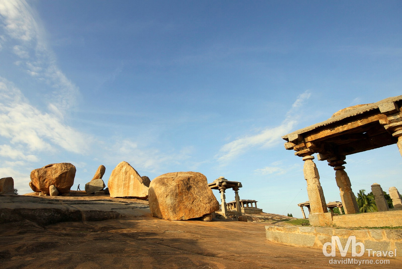 The bizarre landscape of Hemakuta Hill, Hampi, Karnataka, India. September 25th 2012.