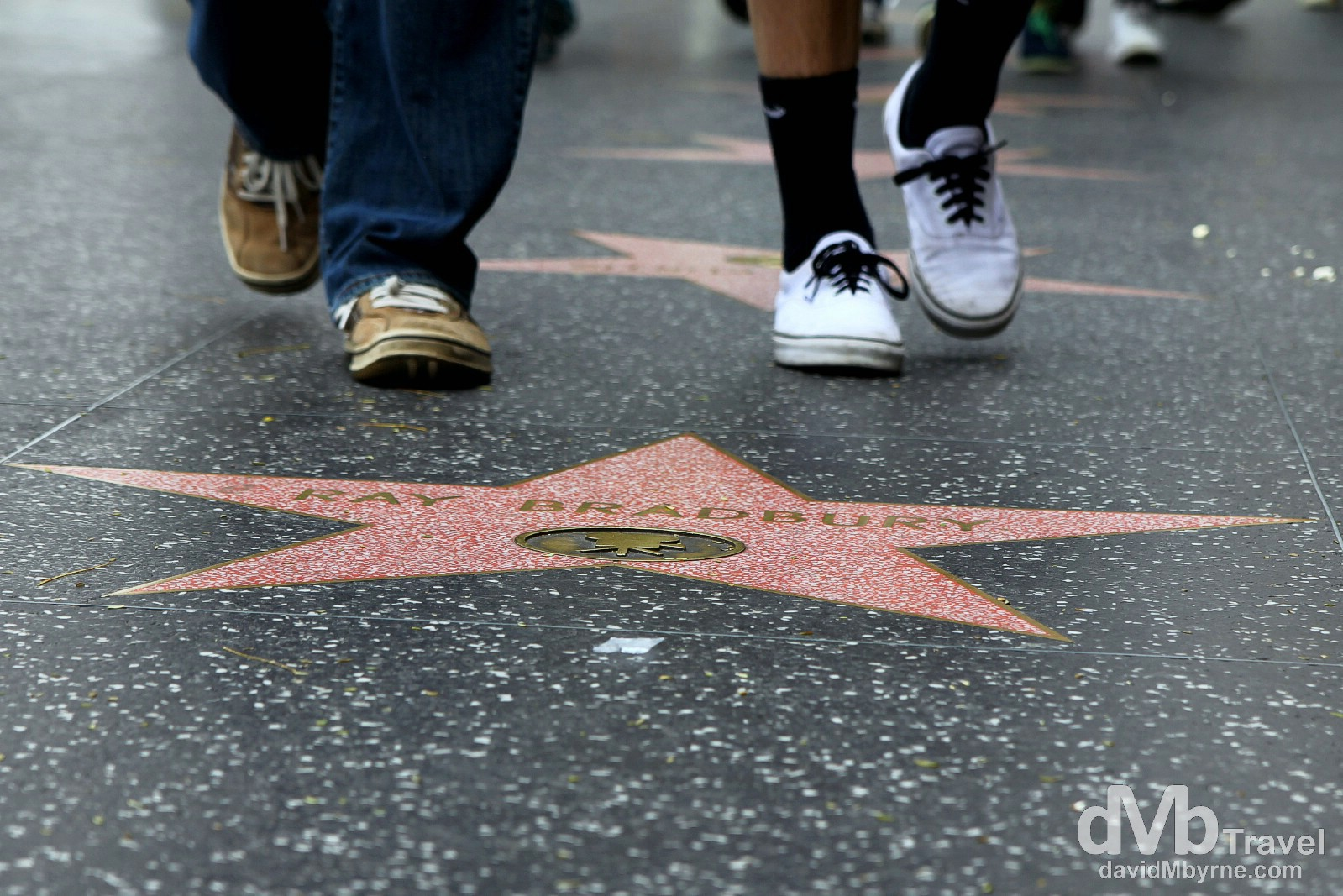 A Star on the Hollywood Walk Of Fame, Hollywood Boulevard, Los Angeles, California, USA. April 4th 2013.