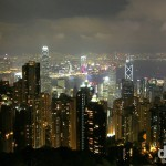 The Hong Kong Money Shot #2: The view of Central (foreground) & Kowloon (background) either side of Victoria Harbour as seen from Victoria Peak, Hong Kong Island. October 19th 2012.