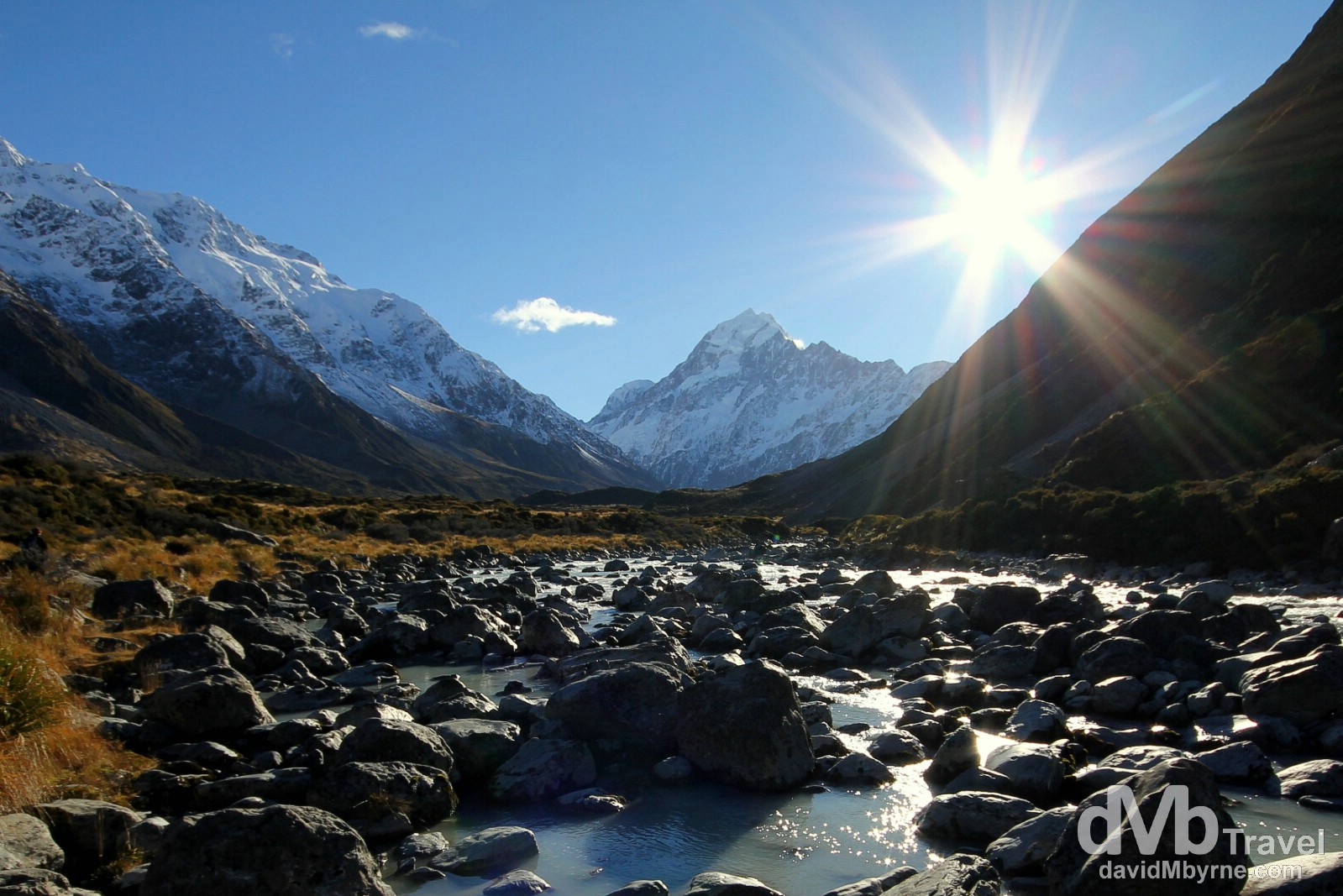 Mount Cook as seen from the Hooker Valley, Mount Cook National Park, South Island, New Zealand. May 31st 2012.