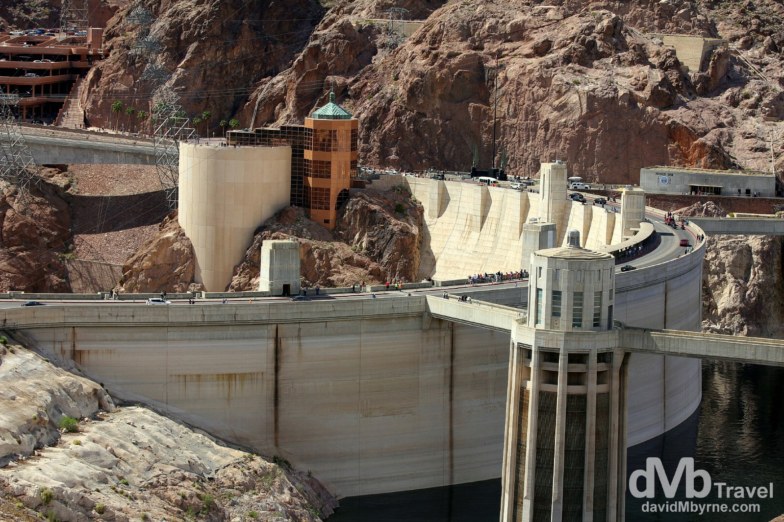 Taken from the Arizona side, the rear of the Hoover Dam on the Nevada & Arizona border, USA. April 6th 2013.