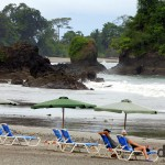 The beach at Manuel Antonio on the edge of Parque Nacional Manuel Antonio, Costa Rica. June 26th 2013.