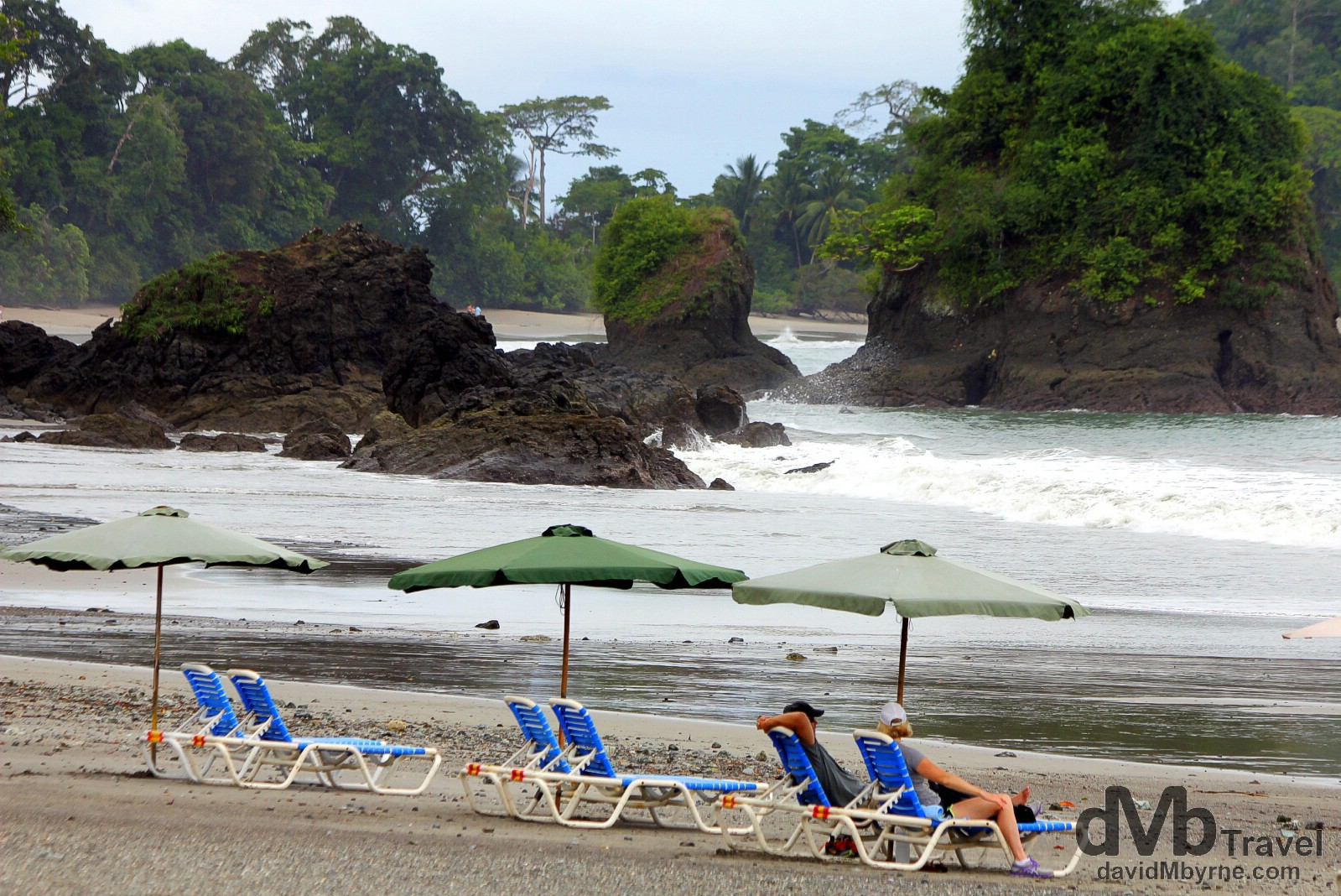 The beach at Manuel Antonio on the edge of Parque Nacional Manuel Antonio, Costa Rica. June 26th 2013.