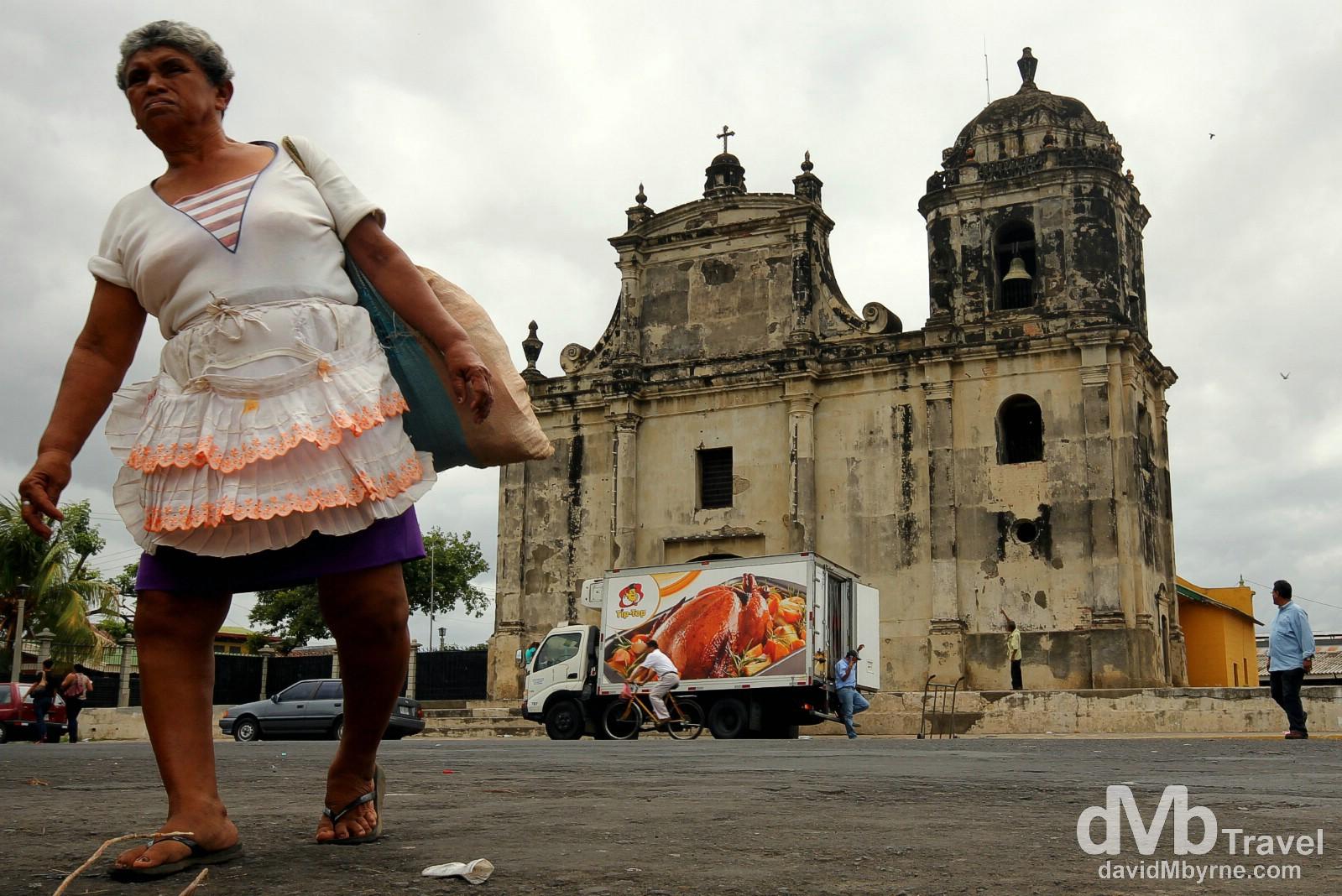 Fronting the 1625 (rebuilt in 1860) Iglesia de San Juan in Leon, Nicaragua. June 15th 2013.