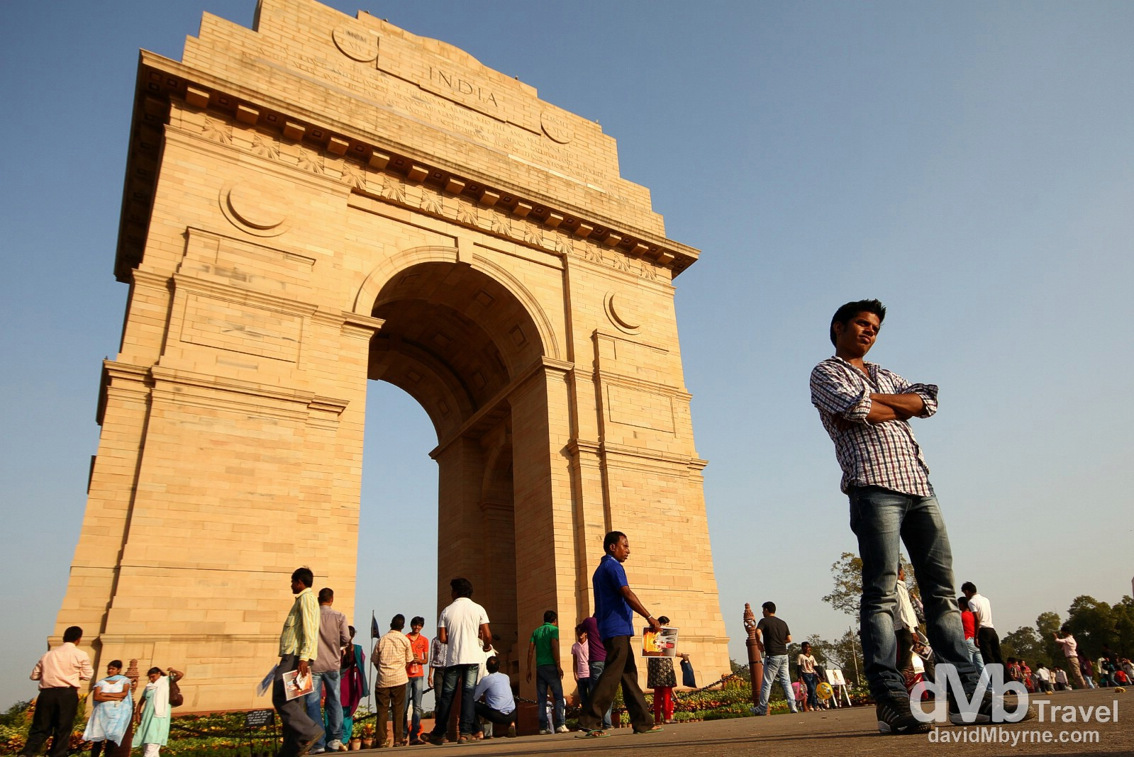 Posing at the India Gate, New Delhi, India. October 7th 2012.