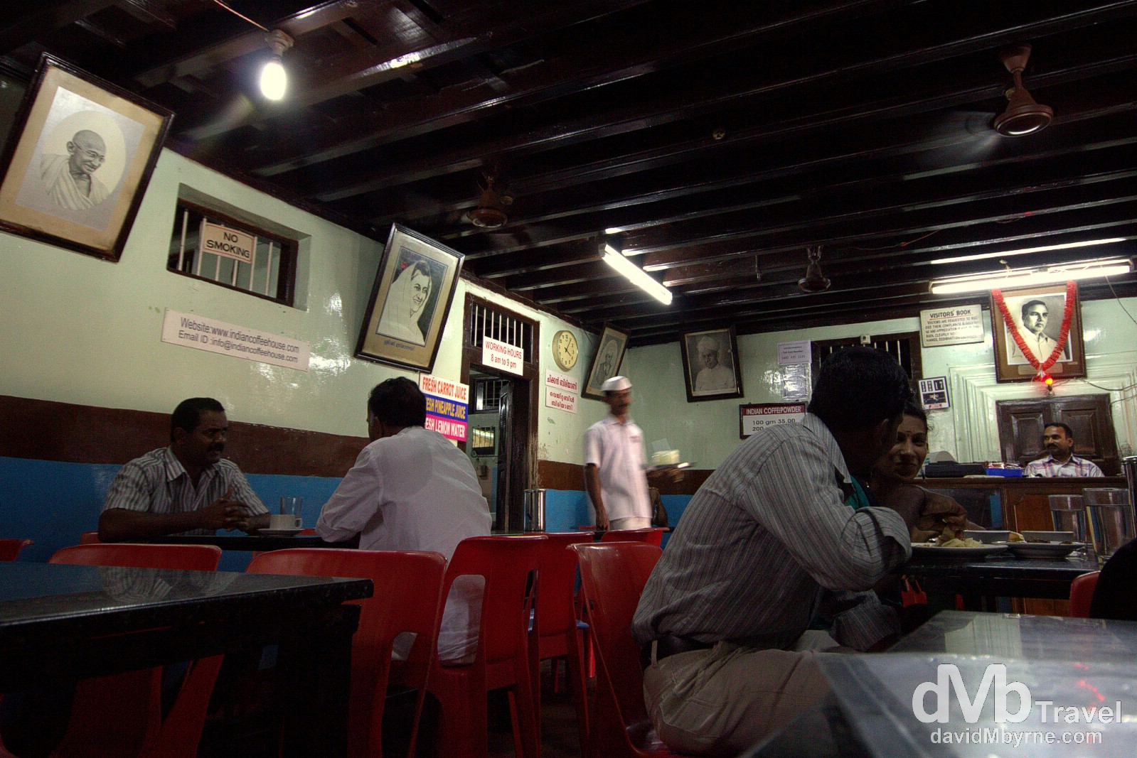 Indian Coffee House, Alleppey, Kerala, India. September 17th 2012.