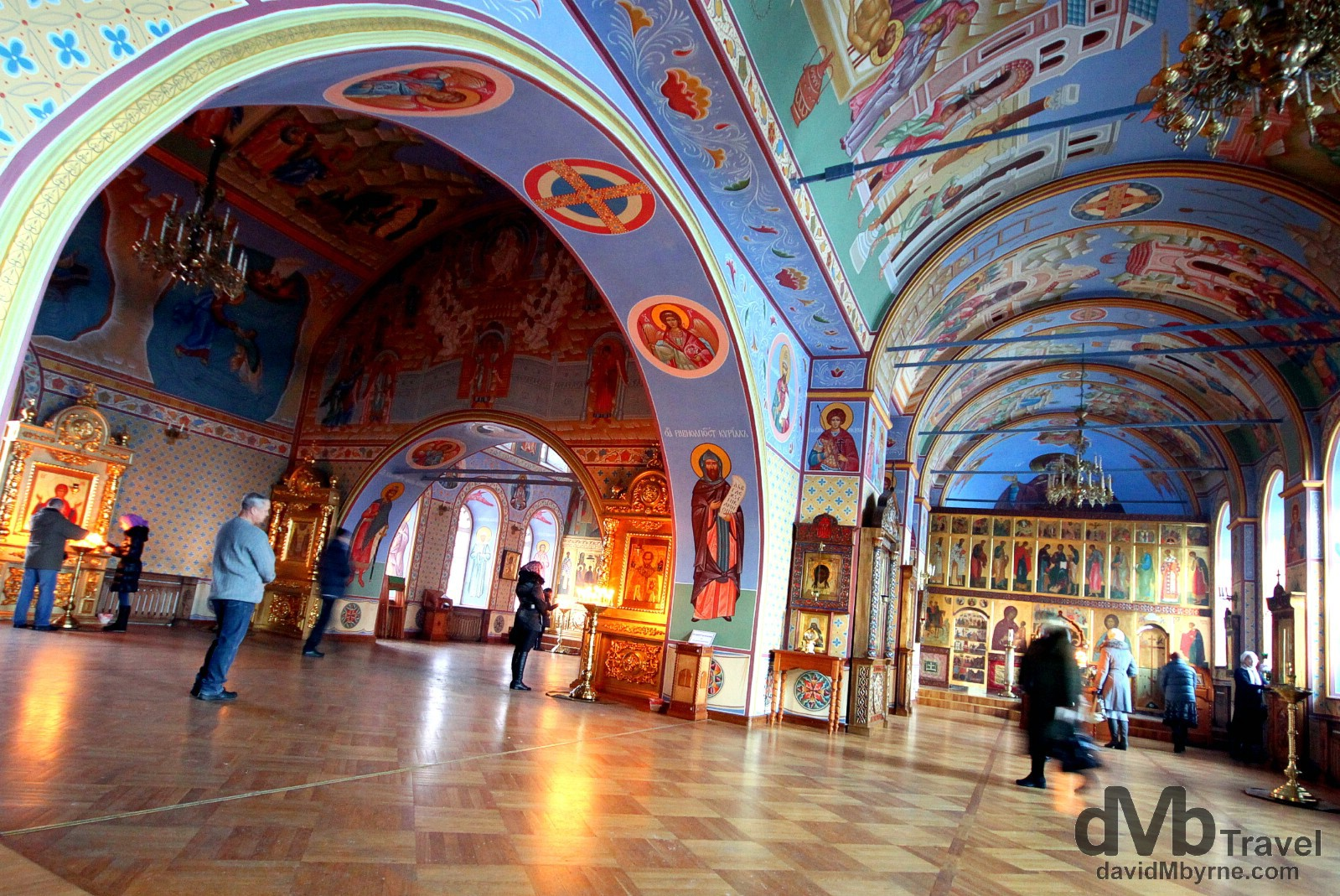 The interior of the Epiphany Cathedral in Tomsk, Siberian Russia. November 11th 2012.