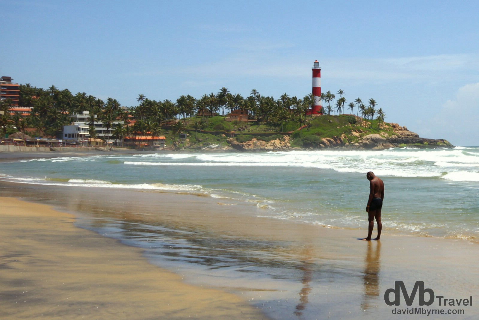 Lighthouse Beach, Kovalam, Kerala, southwestern India. September 11th 2012.