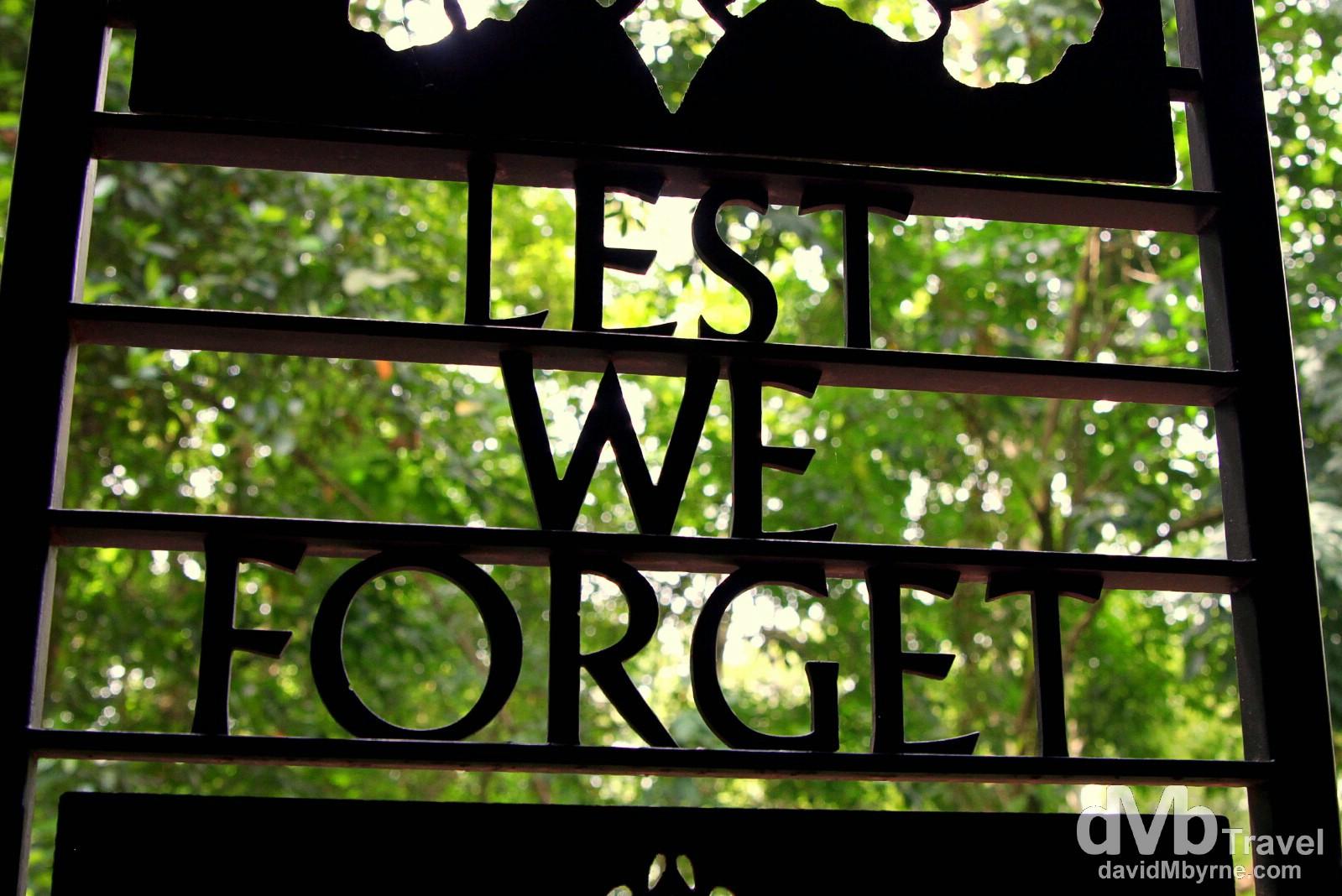Kundasang War Memorial, Sabah, Malaysian Borneo. June 26th 2012.