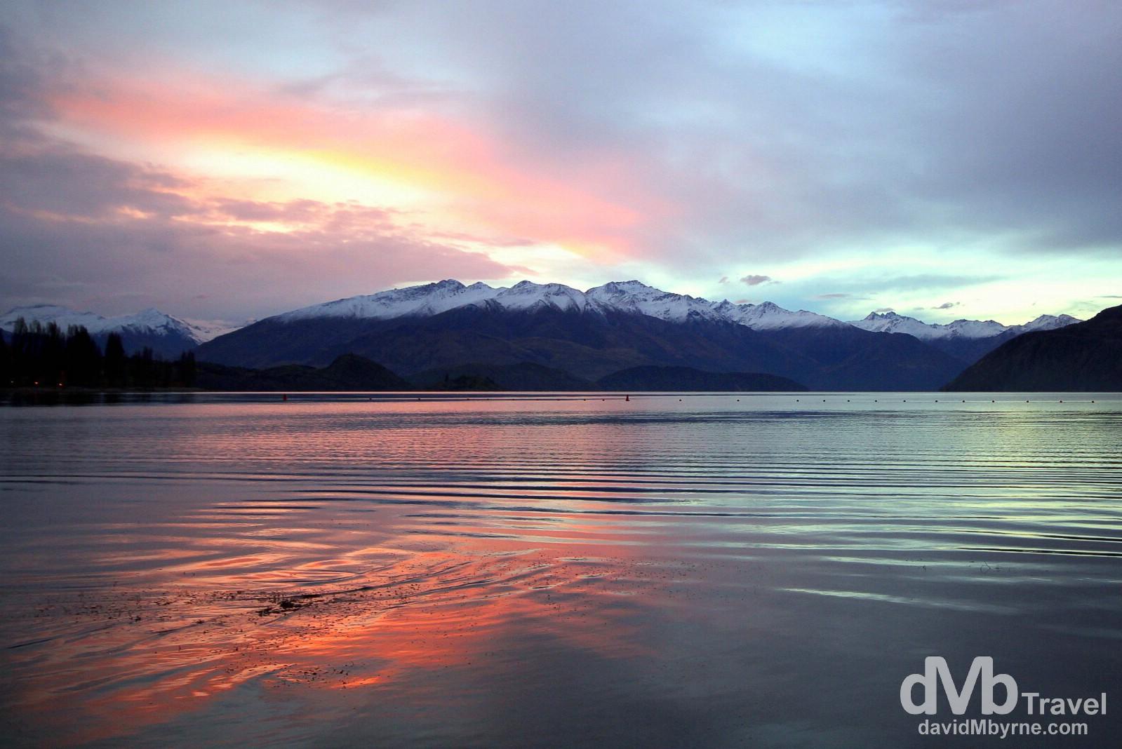 Fading sunset as seen from the shores of Lake Wanaka, Wanaka, South Island, New Zealand. May 20th 2012.