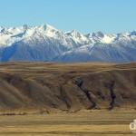 Mackenzie Country scenery as seen from Mount John, Lake Tekapo, South Island, New Zealand. June 1st 2012.