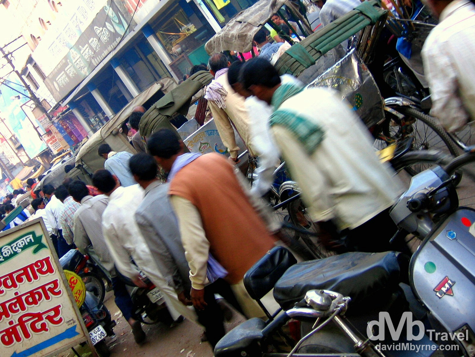 A typical mid-afternoon scene on Madanpura Road, Varanasi, India. March 18th 2008.