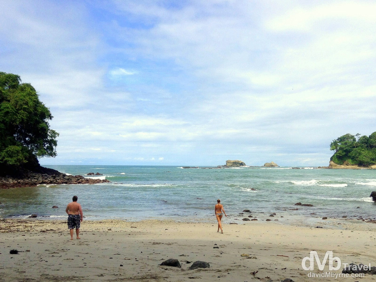 Contrasts on a beach in Parque Nacional Manuel Antonio, Costa Rica. June 26th 2013 (iPod)