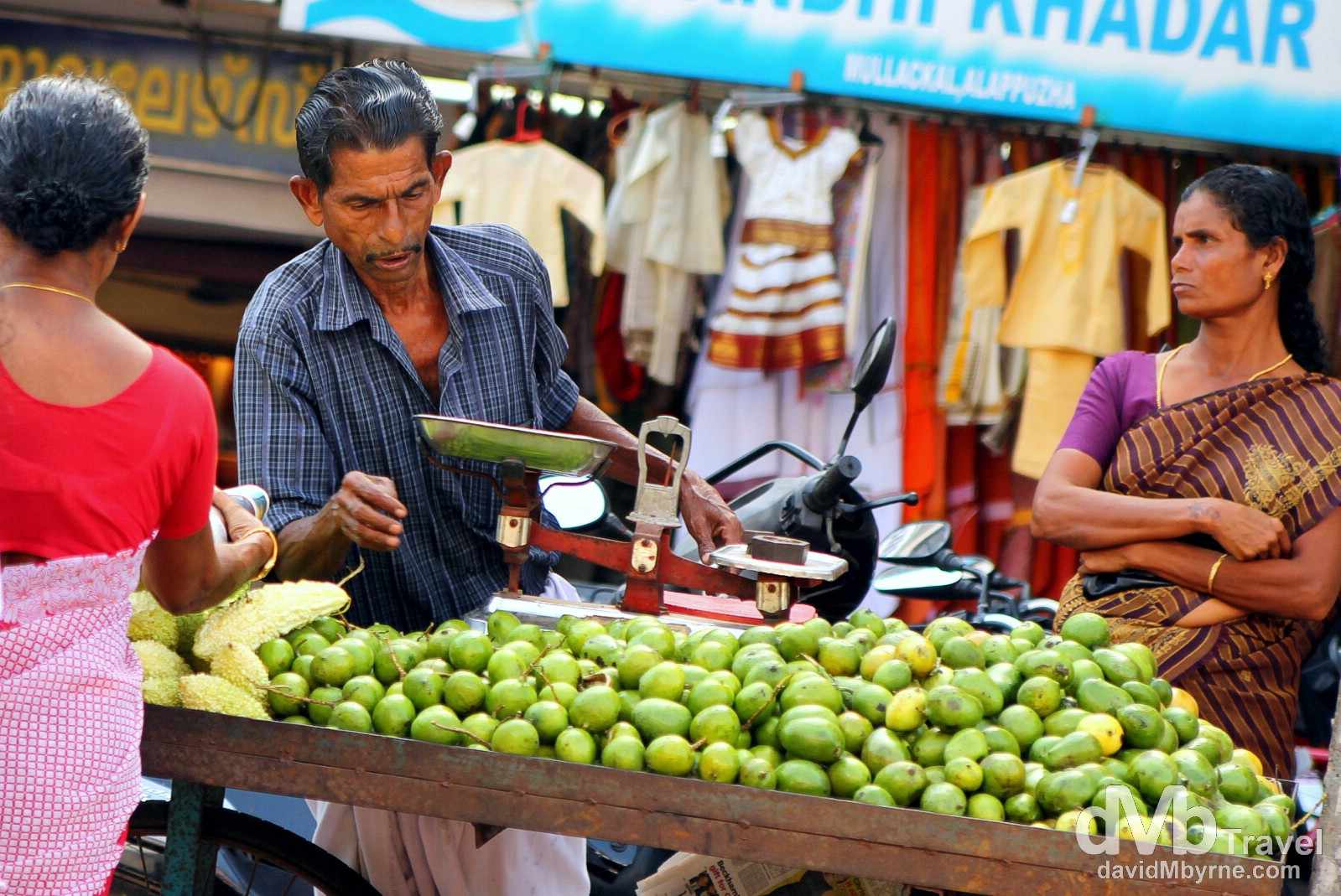 A stall on the streets of Alleppey, Kerala, India. September 17th 2012.