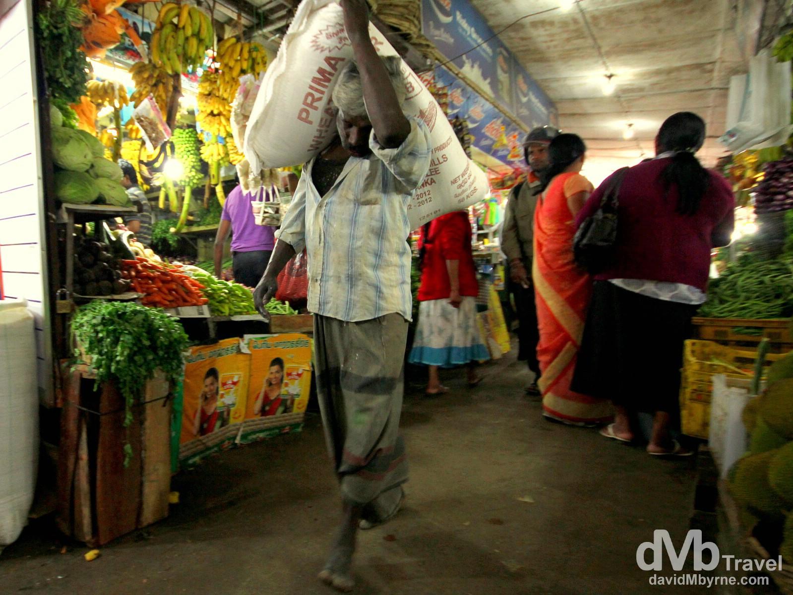 Activity in a produce market in Nuwera Eliya, Sri Lanka. September 6th 2012.