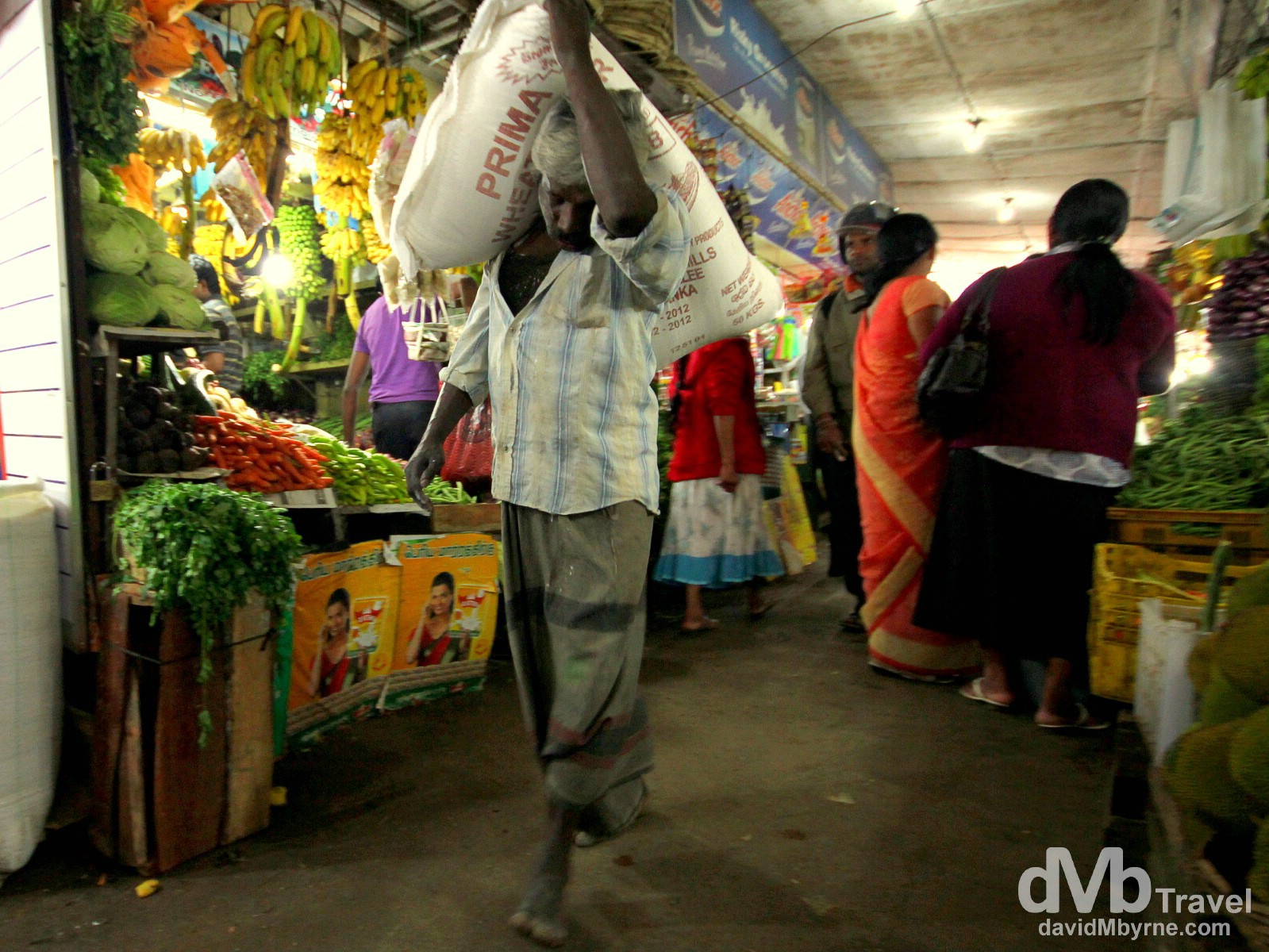 Activity in a produce market in Nuwera Eliya, Sri Lanka. September 6th 2012.