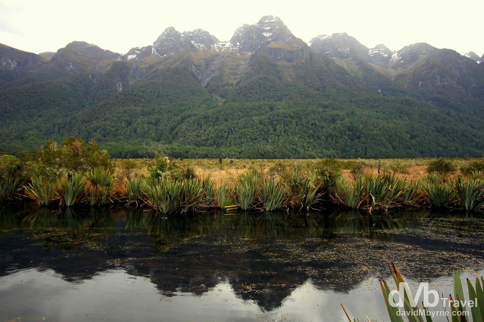 A section of the Mirror Lakes off State Highway 94, Fiordland National Park, South Island, New Zealand. May 26th 2012.
