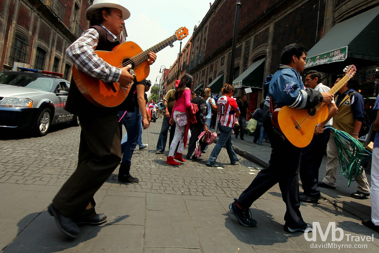 It seems like Mexico moves to the rhythm of a beat. Music is everywhere in the country - one the streets, on public transport & blaring from doorways & moving cars. Moneda, Central Mexico City. April 26th 2013.