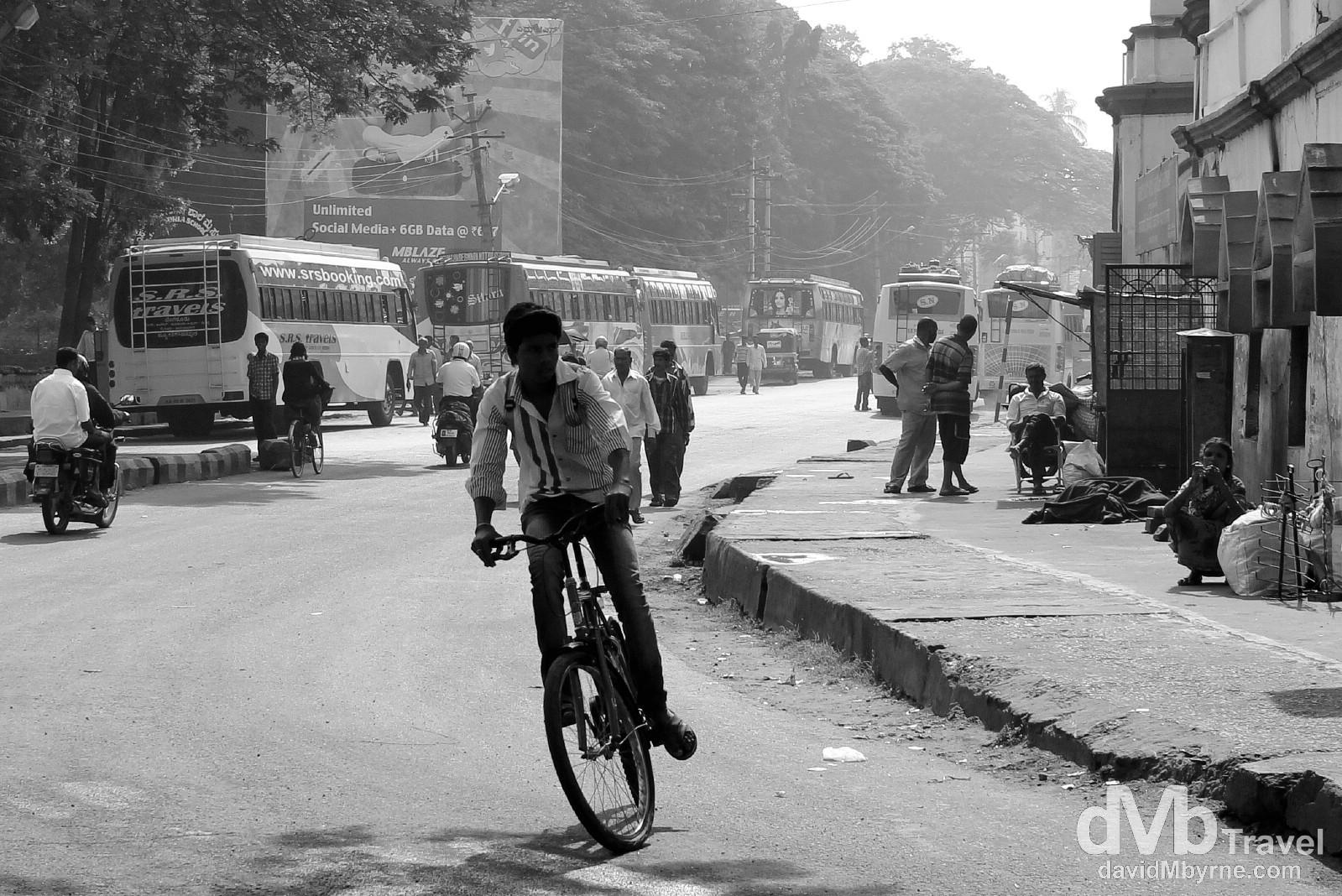 On the streets of Mysore, Karnataka, southern India. September 21st 2012.