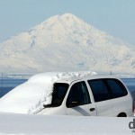 Buried (for now) in the village of Ninilchik, Kenai Peninsula, Alaska. USA. March 18th 2013.