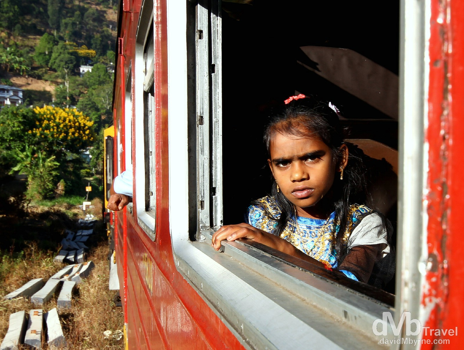 On the Badulla to Colombo train in central Sri Lanka. September 5th 2012.