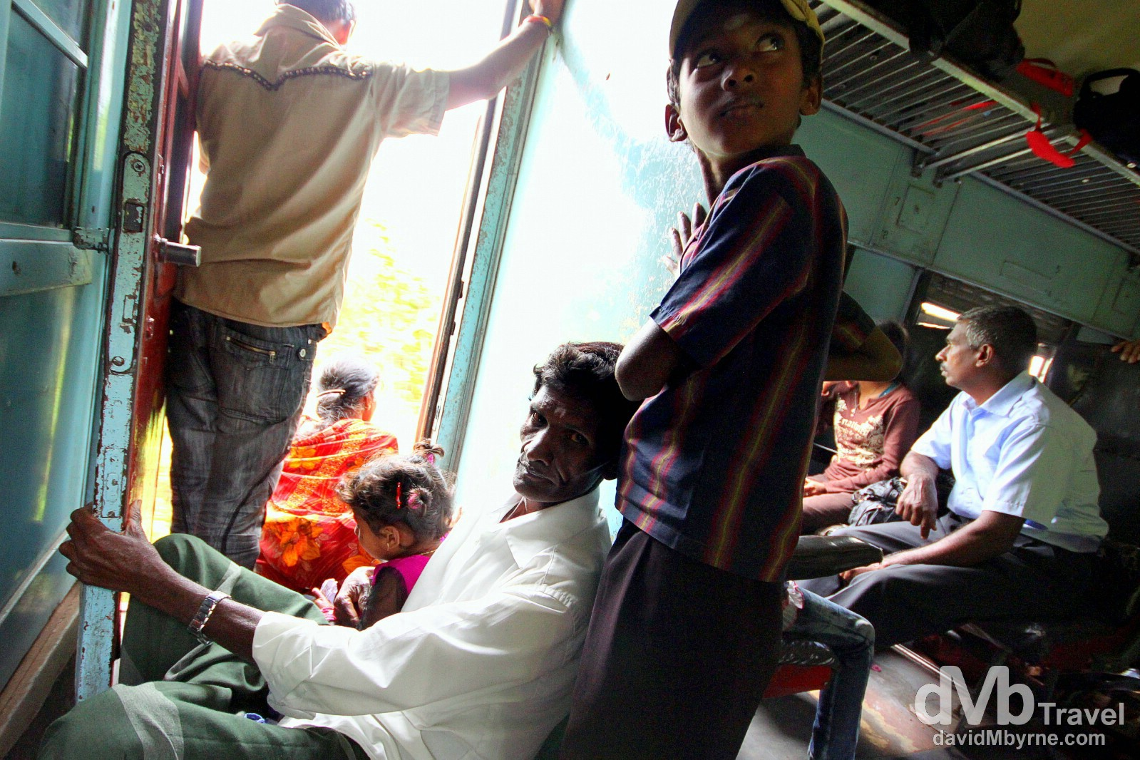 On the Kandy-bound train in central Sri Lanka. September 7th 2102.