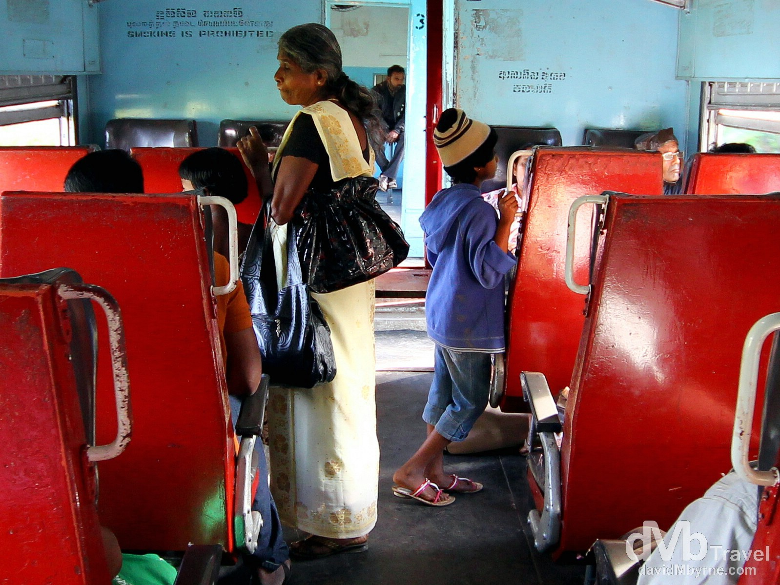 On the Colombo-bound train in central Sri Lanka. September 5th 2012.