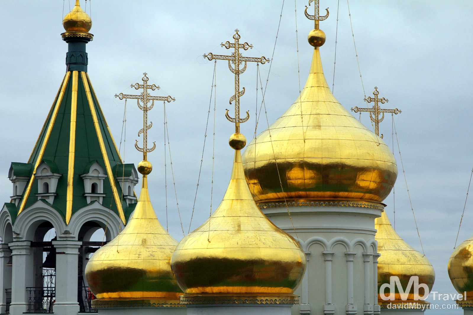 Gold Onion Domes. Nizhny Novgorod, Russia. November 14th 2012.