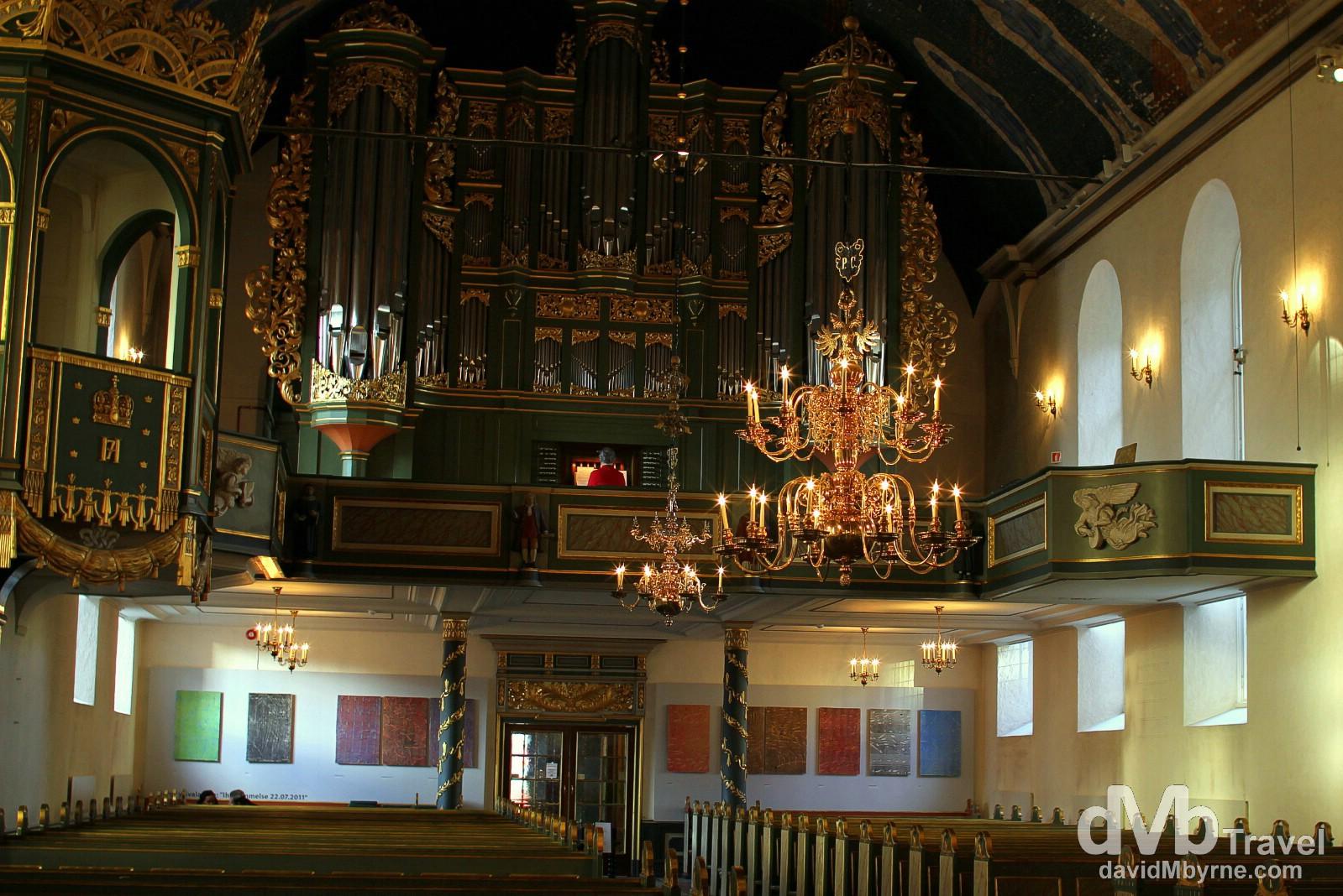 Organ practice in Oslo Cathedral, Oslo, Norway. November 29, 2012.
