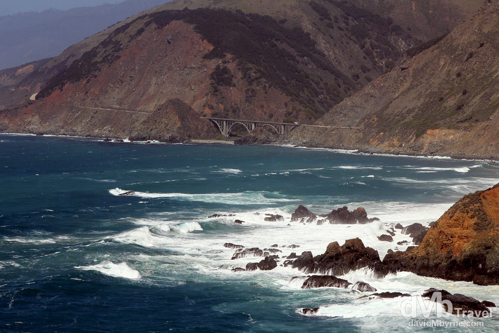 A section of the State Highway 1/Pacific Coast Highway, California, USA. April 8th 2013.