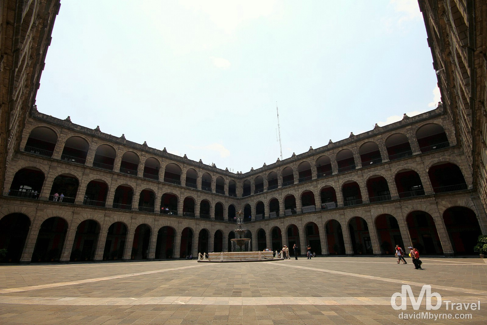 A courtyard in the Palacio Nacional (The National Palace), the home of the offices of the Mexican President. Central Mexico City. April 28th 2013.