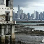 Old & New - the view from the tip of Casco Viejo across the Bahia de Panama (Bay of Panama) towards Panama City, Panama. July 1st 2013.