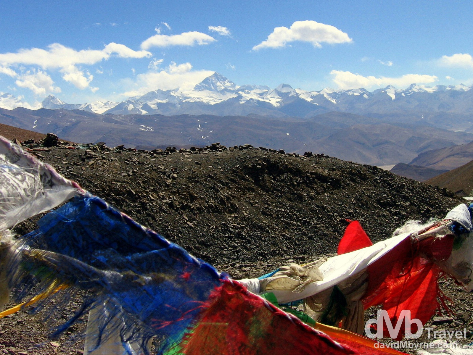The Everest region from the Pang La pass in Tibet