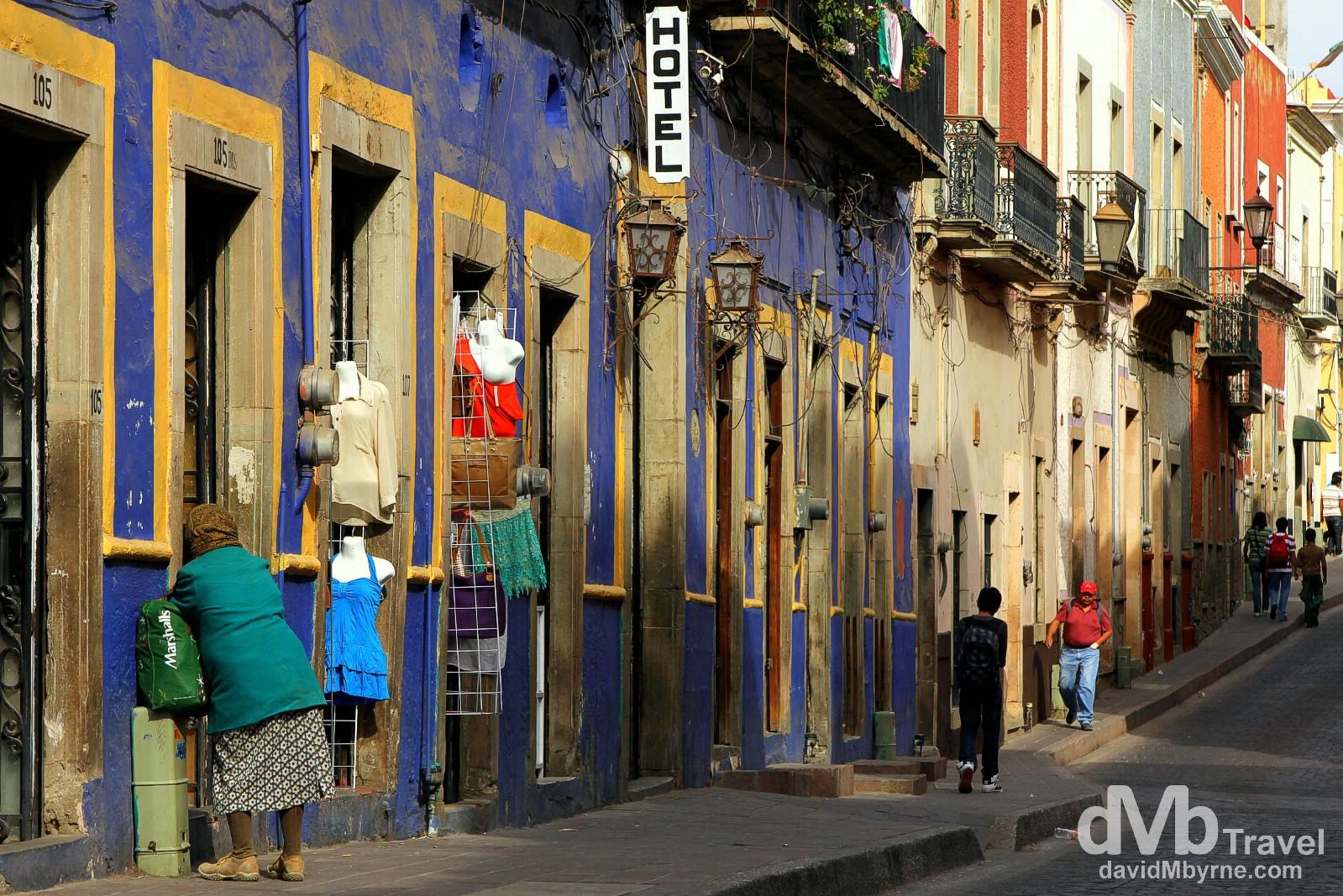 Buildings along Picitos, Guanajuato, Mexico. April 23rd 2013.