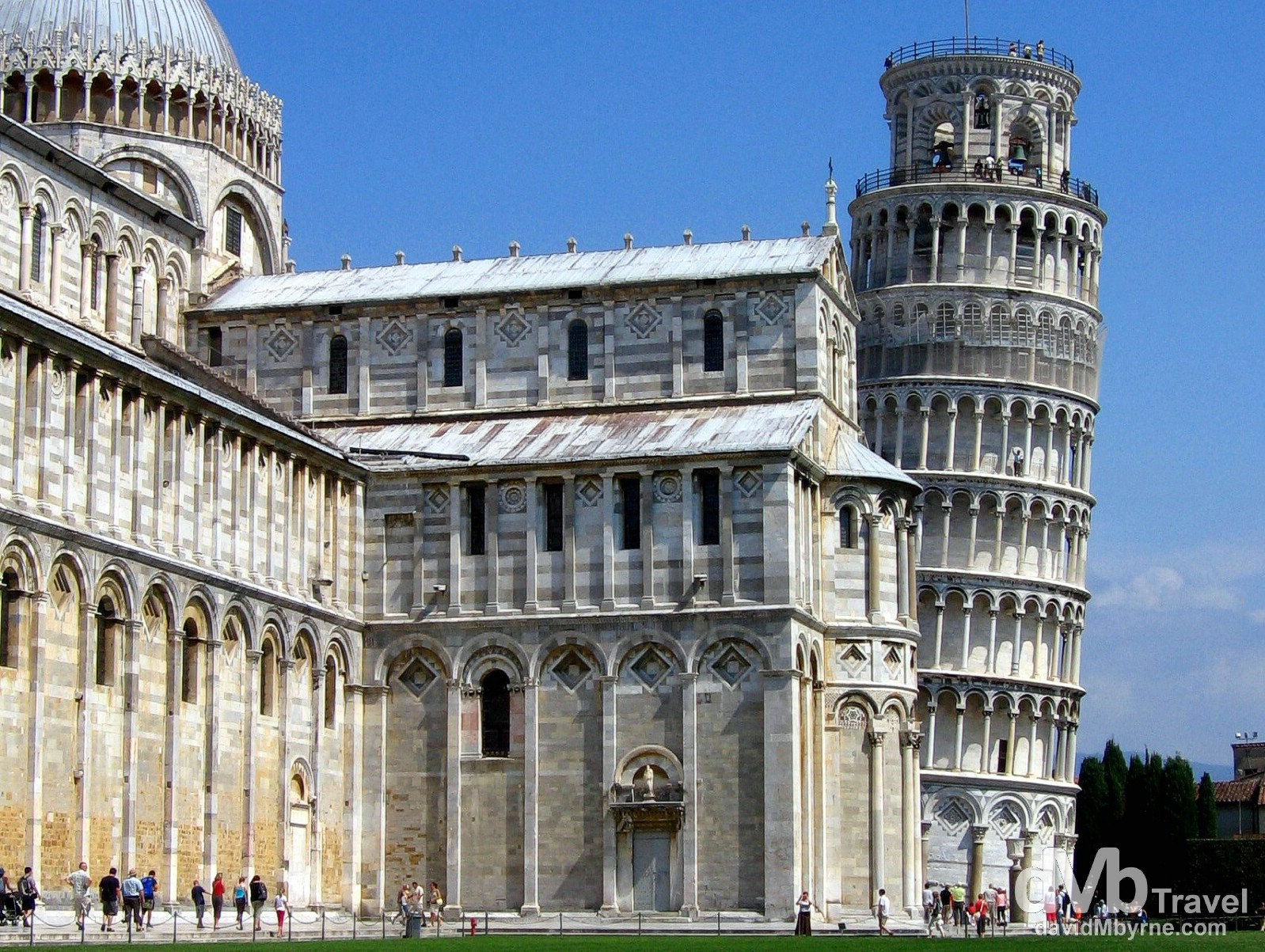 A section of the Cathedral & the leaning tower in the Campo dei Miracoli (Field of Miracles) in Pisa, Tuscany, Italy. August 31st 2007.