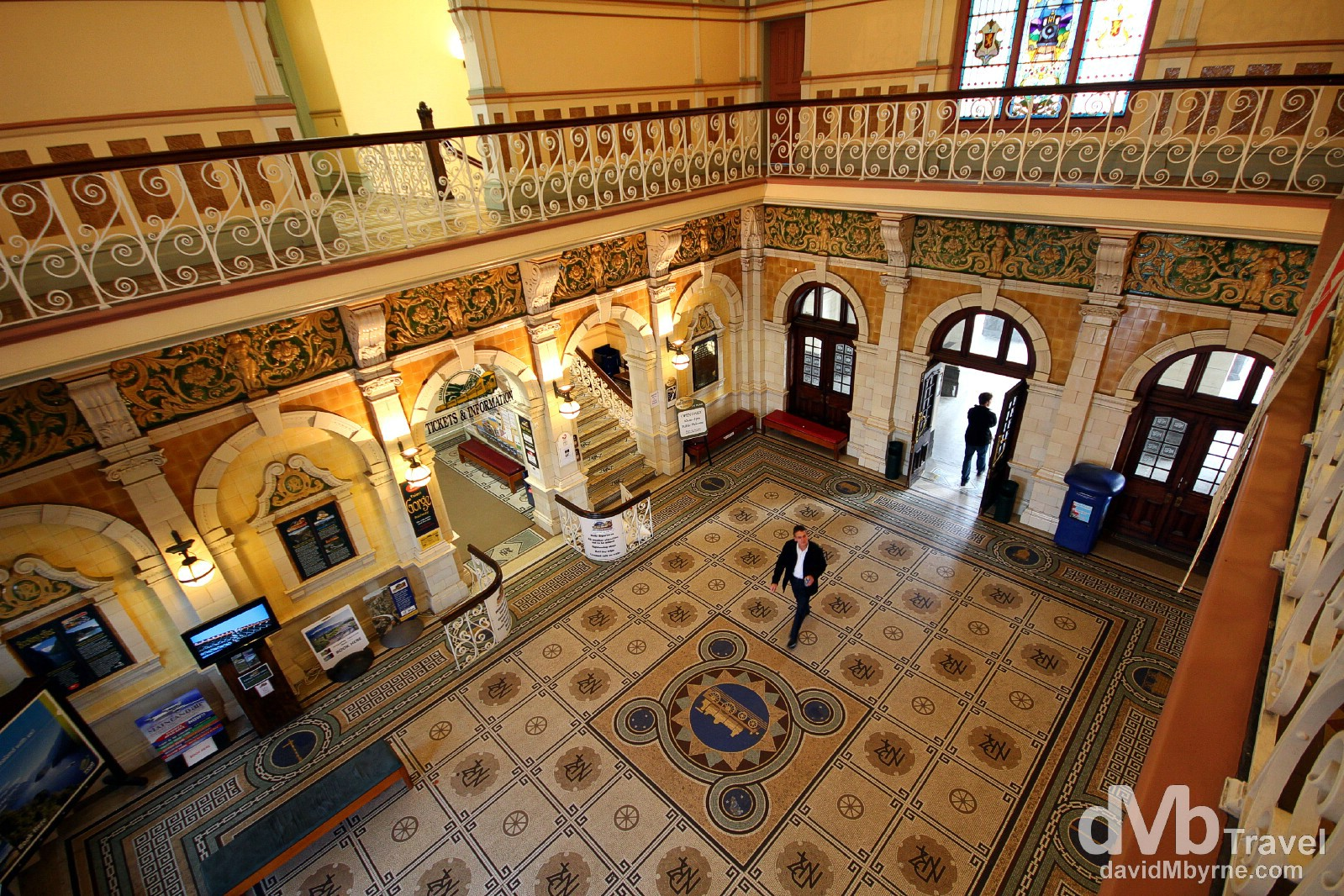 The foyer of the Edwardian railway station in Dunedin, South Island, New Zealand. May 29th 2012.