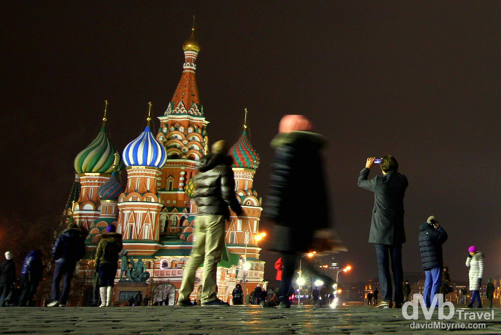 Photographing Saint Basil's Cathedral in Red Square, Moscow, Russia. November 19th 212.