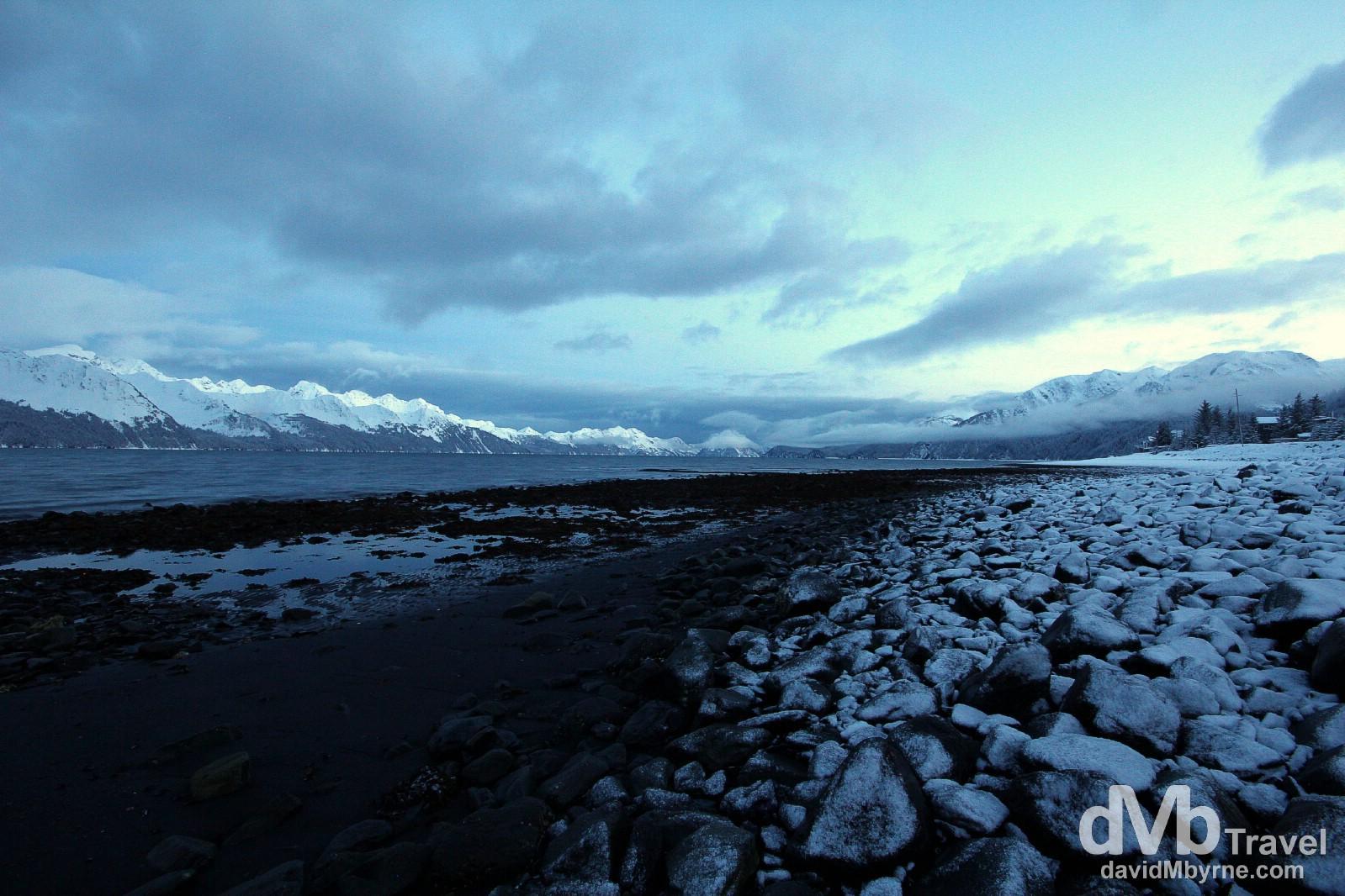 Resurrection Bay, Lowell Point, Kenai Peninsula, Alaska, USA. March 14th 2013.