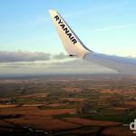 The Irish countryside as seen from Ryanair flight 115 approaching Dublin Airport, Ireland. December 10, 2012.