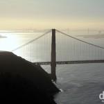 The view from near Point Bonita Lighthouse at the San Francisco Bay entrance in the Marin Headlands, San Francisco, California, USA. April 11th 2013.