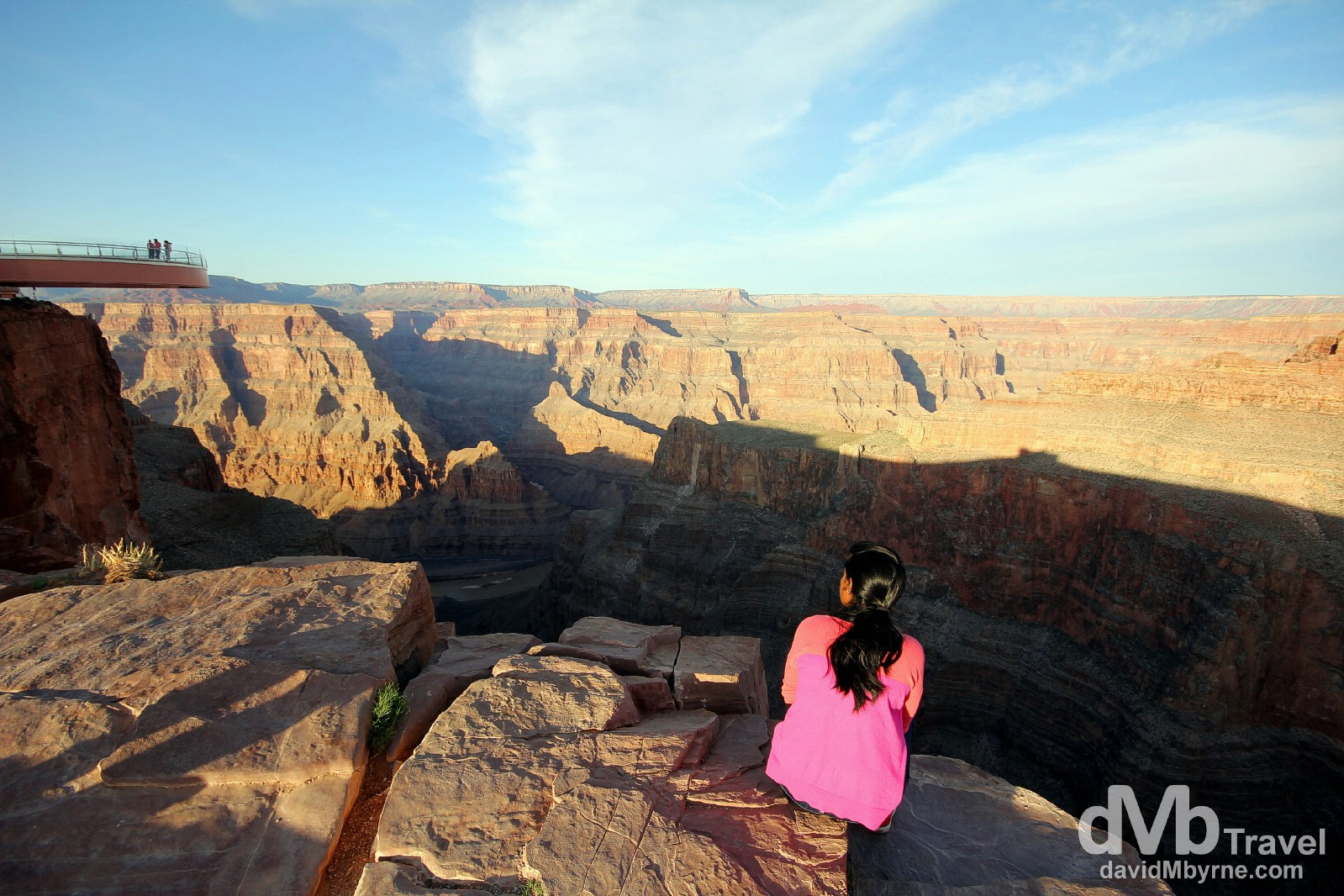 Sitting by the edge of The Grand Canyon at Eagle Point, The Grand Canyon West, Arizona, USA. April 6th 2013.